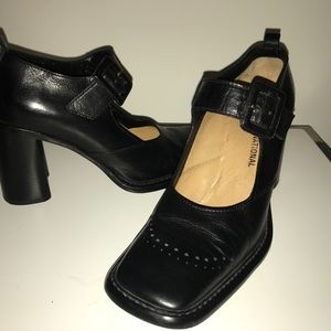 COSTUME NATIONAL Women Black Block Heel SIZE 37.5